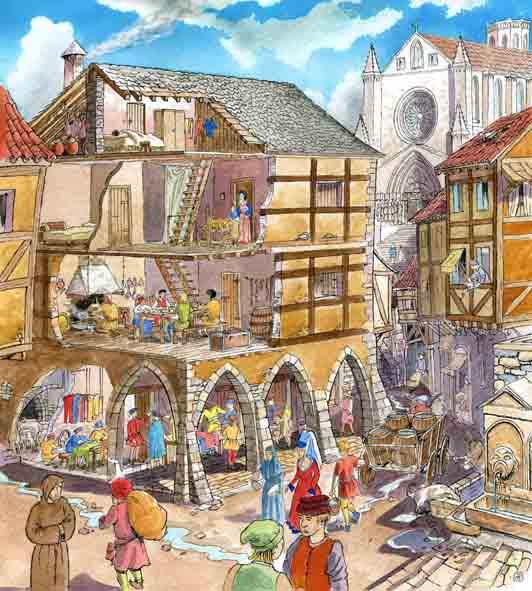 Infantil de gracia los artesanos en la edad media for Talleres artesanales